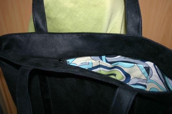 sac à paillettes noir 015