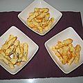 Feuilletés au graines de pavot, aux graines de sésame et fromage rapé