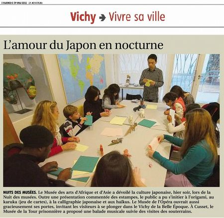 s-Article de Journal La Montagne Vichy 19052013