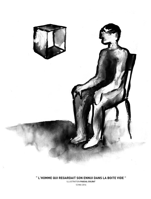 l'homme qui regardait son ennui dans la boite vide