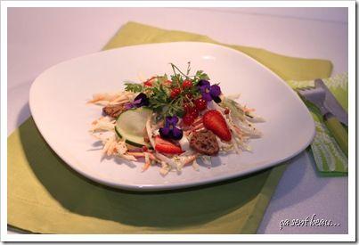 Salade chou blanc & fraises-1