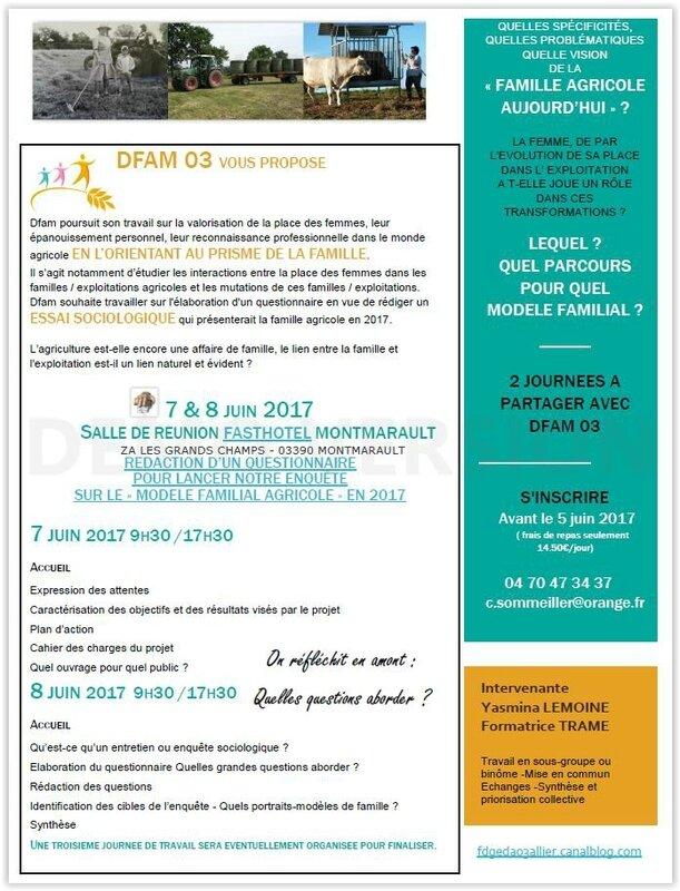 Formation famille dfam 7 et 8 juin Montmarault