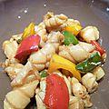 Encornets à la sauce d'huitre et aux poivrons
