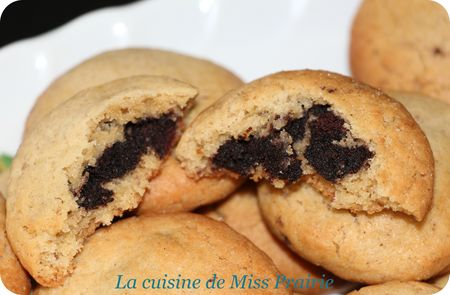 Cookies au cœur de brownies (pillow cookies)