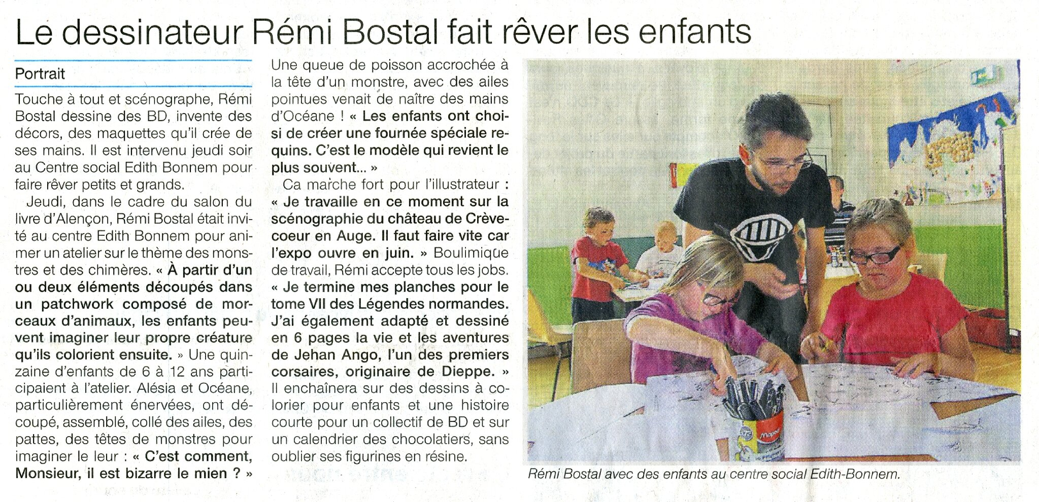 article ouest france remi bostal 30 31 mai 2015
