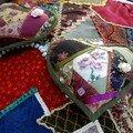 coeurs en patchwork crazy