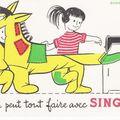 Buvard Singer cheval