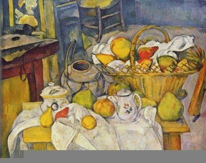 Paul Cézanne, Nature morte au panier de fruits