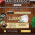 Cash saloon : le jeu en ligne pour gagner des chèques sur prizee