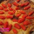 Tarte au fromage blanc et agrumes sans fraises tagada et avec fraises