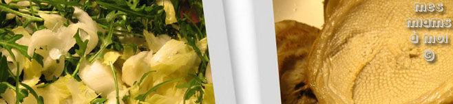 Salade de roquette et d'artichauts