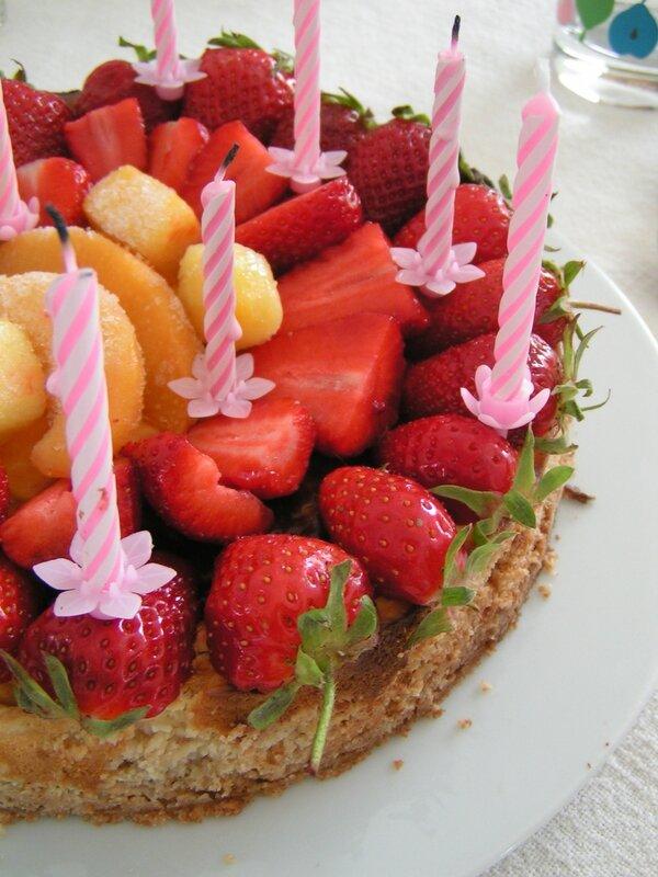 tarte aux fraises façon cheesecake...