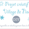 Boutique instants papiers :village de noël