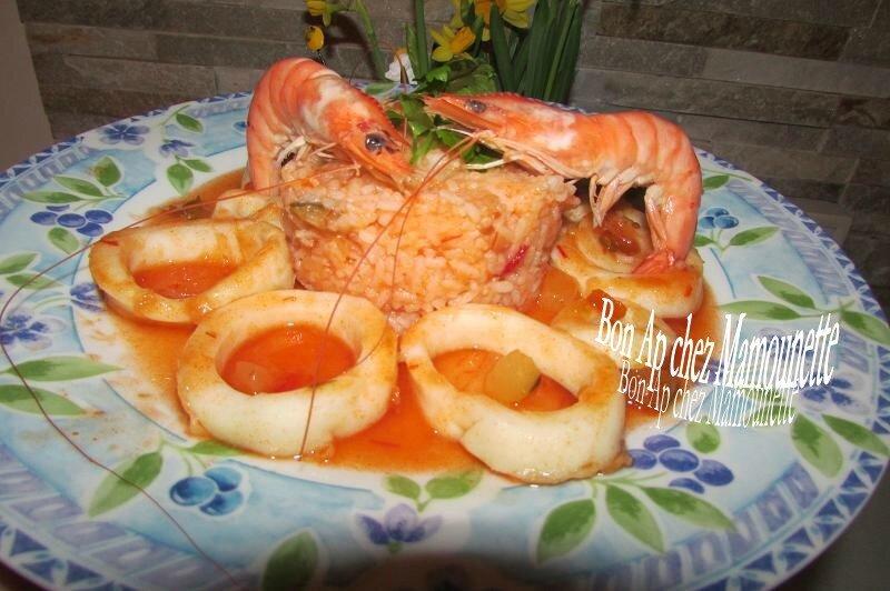 Anneaux d'encornet pimentés à la sauce tomatée maison 013
