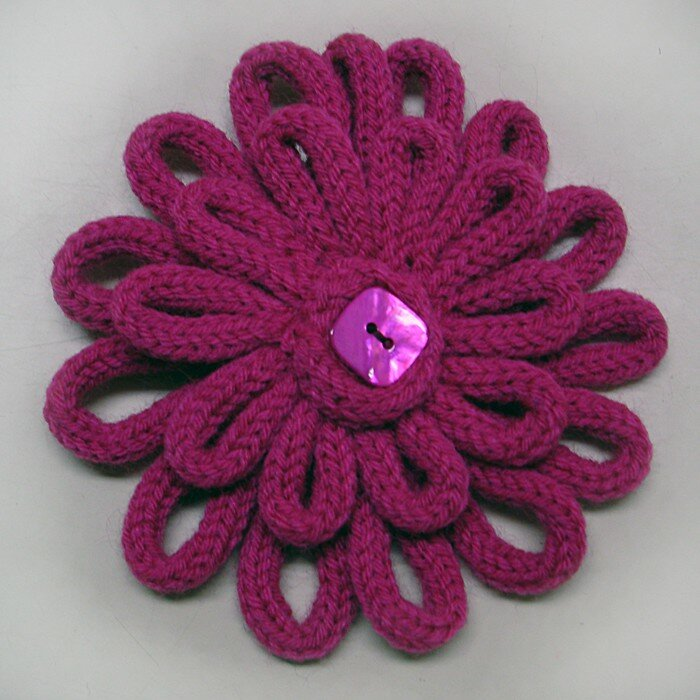 Broche fuschia