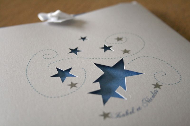 Super Faire-part de mariage constellations - Une Pointe d'épices PB07
