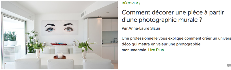 article AL Sizun pour Houzz: décorer à partir photo