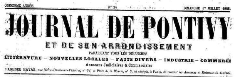 Presse Journal de Pontivy 1888_1
