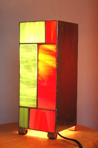 Lampe verre m tal photo de lampes contemporaines style tiffany vitrail isa - Lampes contemporaines ...