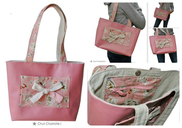 Sac Petit Chaperon rose Chut Charlotte