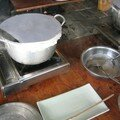 La fabrication des feuilles de riz