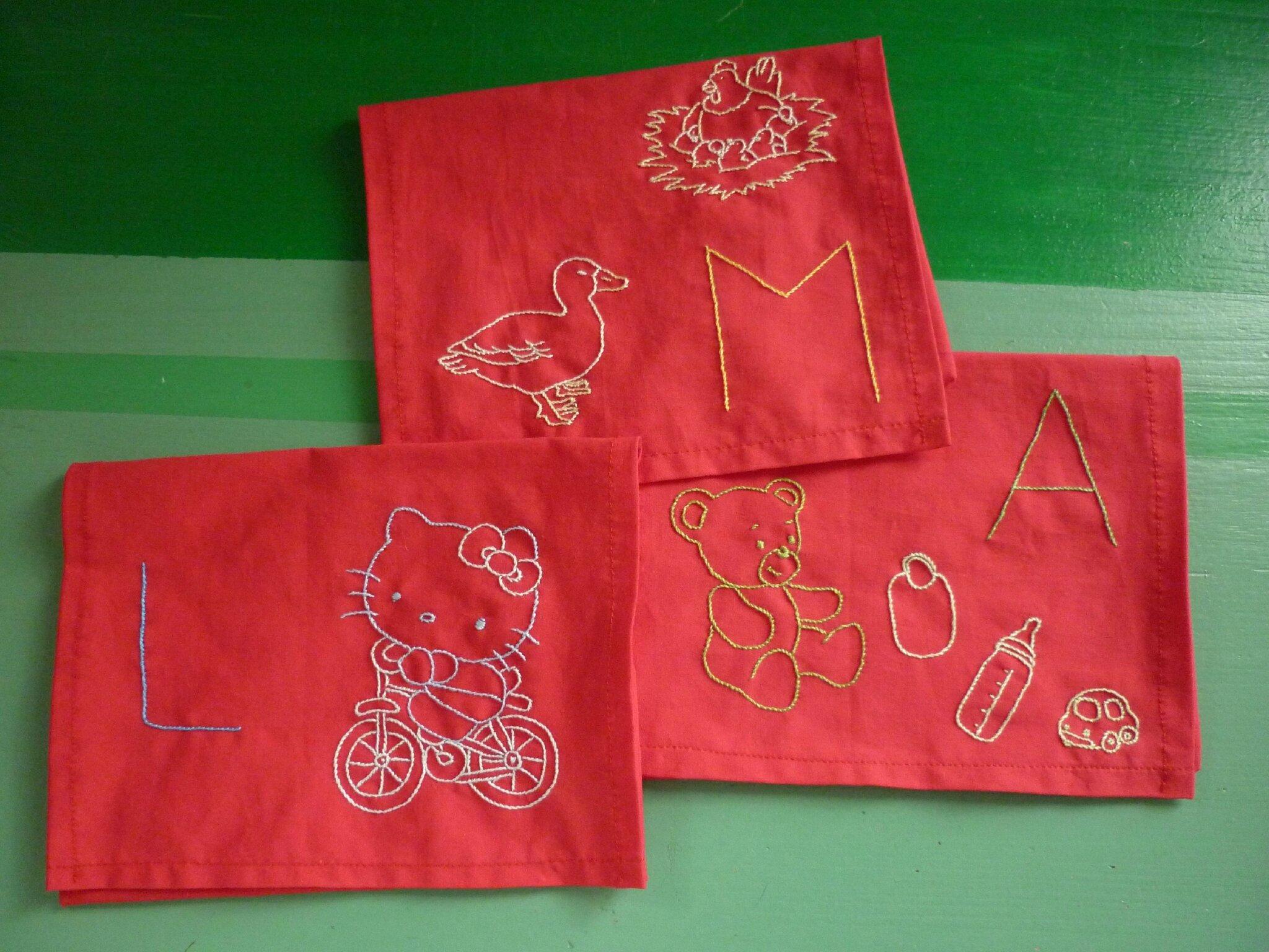 Porte-serviettes (formats grands bavoirs)