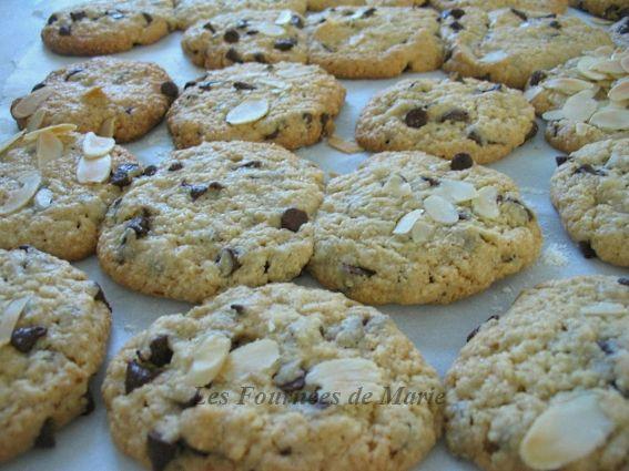 Cookies pépites de chocolat et amandes