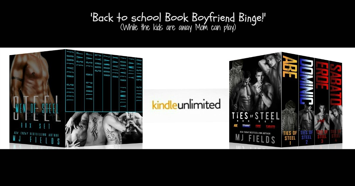 Men of Steel anthology (4 full length novels and 4 novellas) and the Ties of Steel anthology by MJ Fields