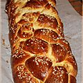 Brioche tresse  6 branches faon pain Challah
