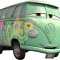 Gteau Fillmore, le van VW dans Cars