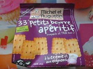 petits beurre apérocrème & oignons Michel & augustin