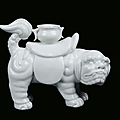 A blanc de chine porcelain pho dog, china, qing dynasty, 19th century
