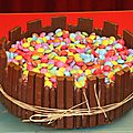 Gateau au chocolat smarties, kit-kat et finger!