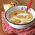 Velouté de lentilles corail au curry pour des