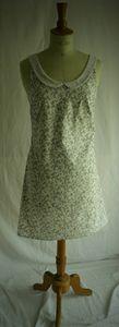 robe romantique blanche fleur t36