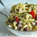 Salade de torsade, thon, tomates ... plein de couleurs