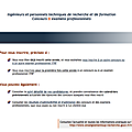 Copies d'cran : Formulaire d'inscription Web Concours ITRF 2012