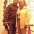 Avec la gagnante du Concours logo Francophonie Kinshasa 2012