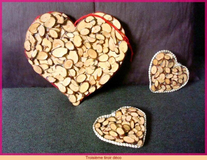petis coeurs en bois