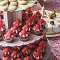 Mini cupcakes à la fraise tagada