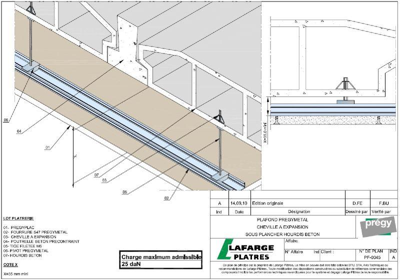 plafond pr gym tal sous structure plancher hourdis b ton. Black Bedroom Furniture Sets. Home Design Ideas