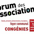 Forum des associations de congénies samedi 13 septembre 2014