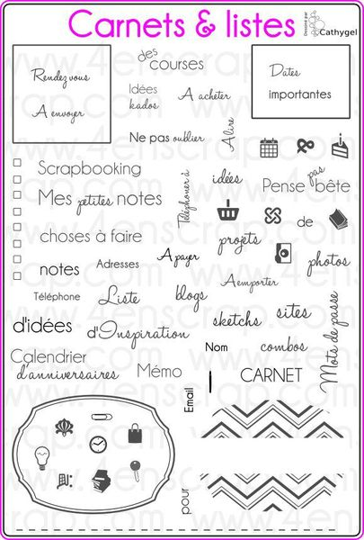 Carnets & listes