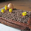 Gâteau magique intensément chocolat pour pâques