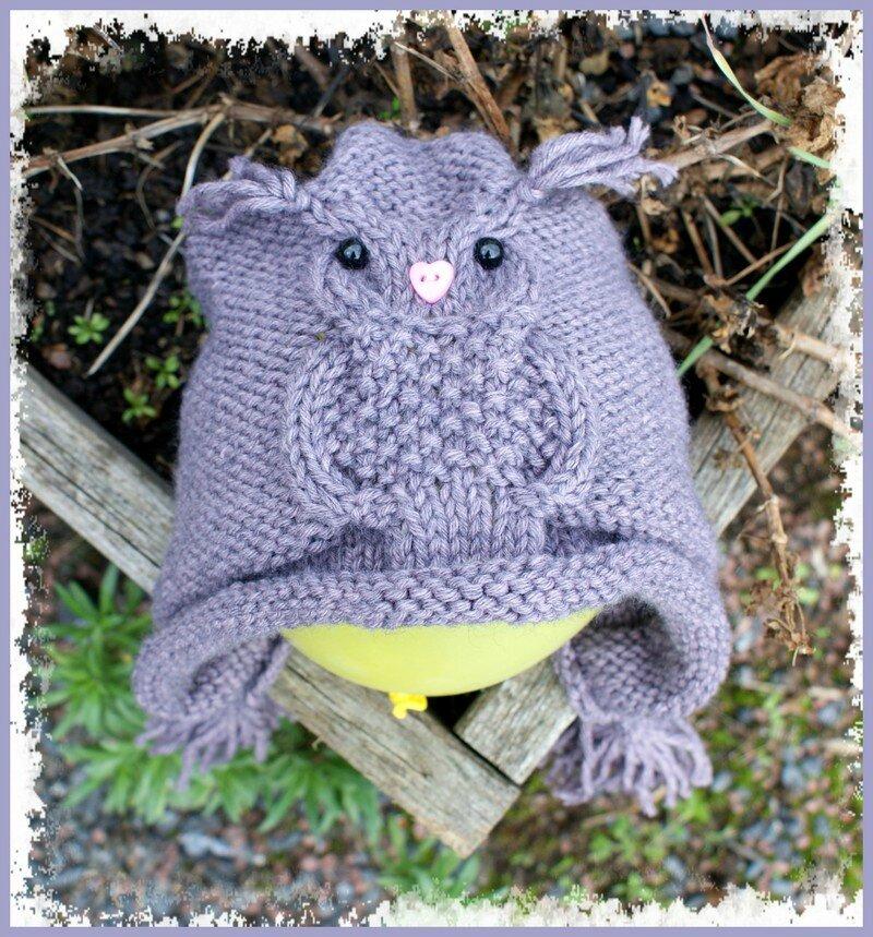 patron tricot hibou
