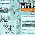 Memoires et territoires