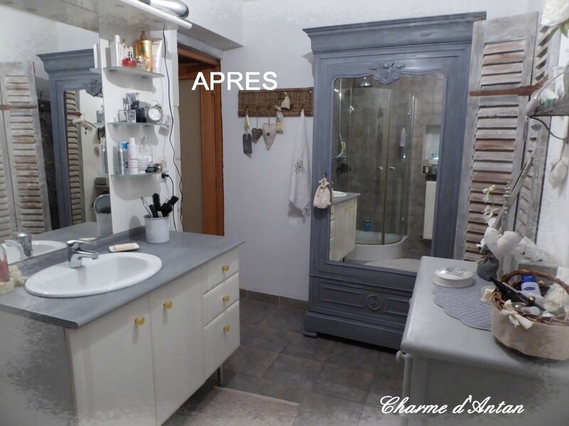 relooking de la salle de bain charme d 39 antan. Black Bedroom Furniture Sets. Home Design Ideas