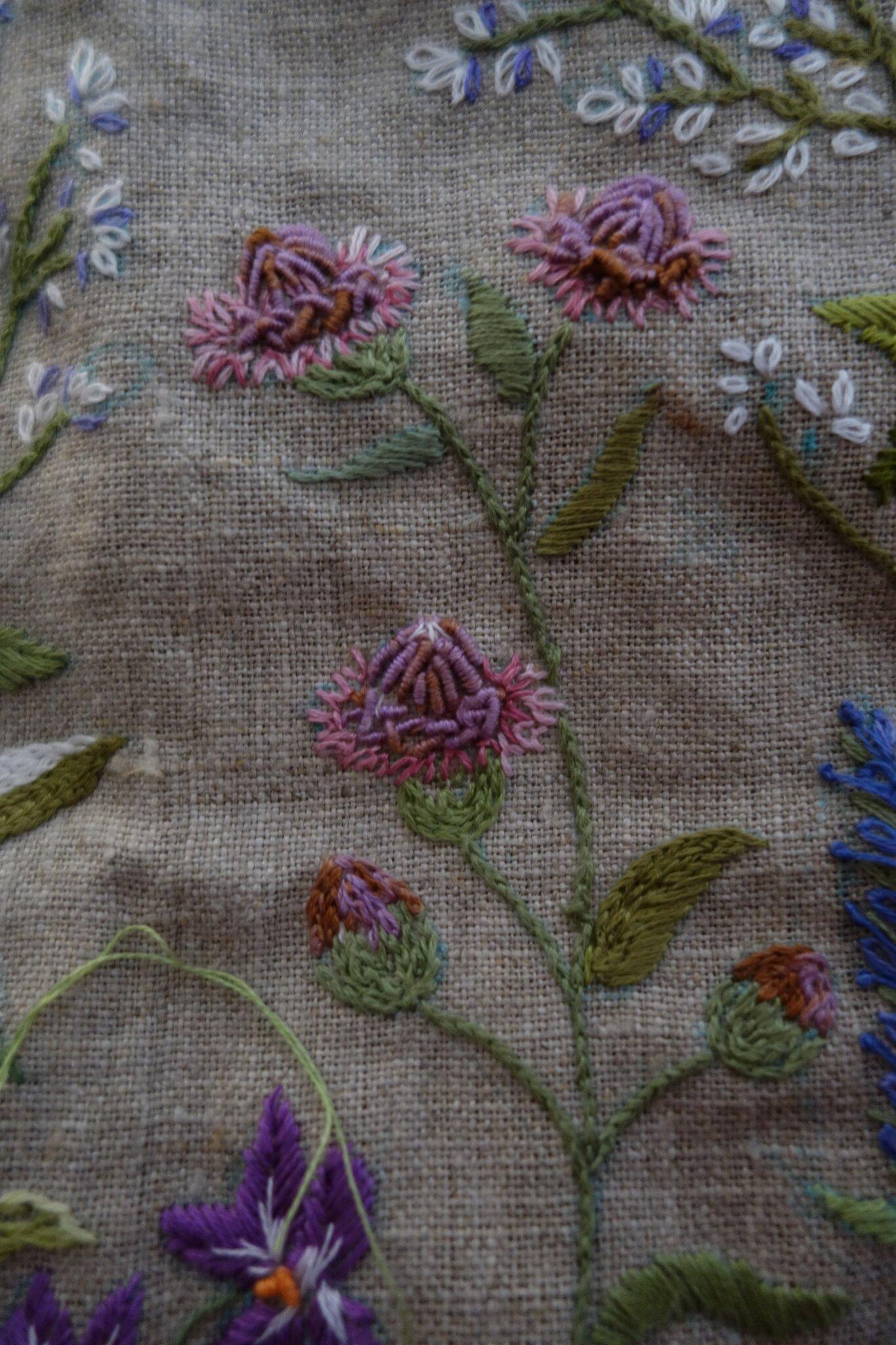 détail 1 trousse jardin fleuri