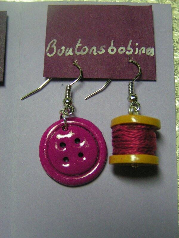 boucles bouton bobine