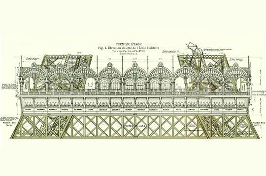 Premier étage de la Tour Eiffel 1889